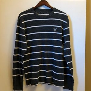 NWOT American Eagle Navy/White Thermal size L